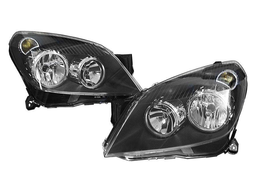 Reflektor Lewy I Prawy Czarny Opel Astra H